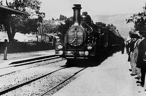 llegada del tren